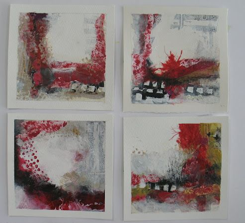 Mixed Media Series, Red and Blue