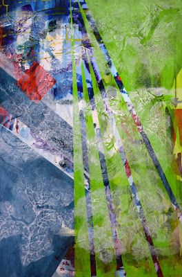 """Non Objective Painting, Contemporary Art """"Escapade"""" by International Abstract Artist Arrachme"""