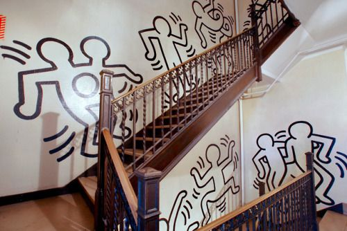 Up the down staircase, Keith Haring