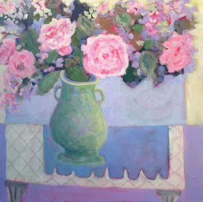 """Contemporary Still Life Art Painting """"WELCOME SPRING"""" by Santa Fe Artist Annie O'Brien Gonzales"""