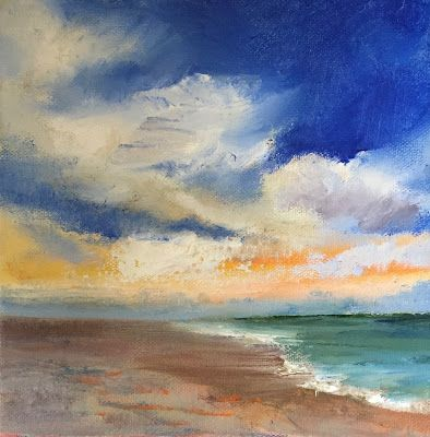 """Contemporary Beach Landscape, """"Perfect Day,"""" by Amy Whitehouse"""