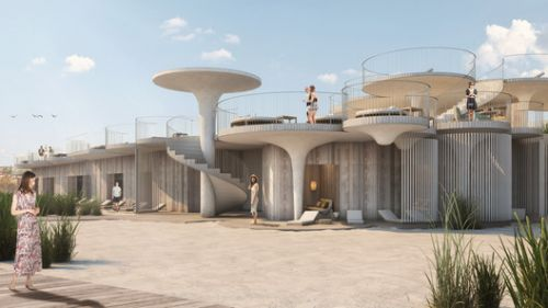 Rojkind Arquitectos, Esrawe Studio and Slade Architecture to Design a Beach Club in New Jersey
