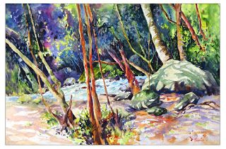 Dappled Glow..Watercolor..Texas Artist..Rae Andrews