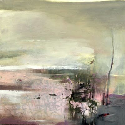 "Contemporary Abstract Landscape, Fine Art Painting ""A Deep Breath"" by Intuitive Artist Joan Fullerton"