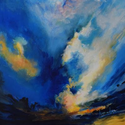 """Abstract Art, Expressionism Painting, Contemporary Landscape Painting """"Tipping The Balance"""