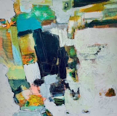 """Modern Art, Abstract Painting, Expressionism """"AND SO IT GOES"""" by Portland Contemporary Artist Liz Thoresen"""