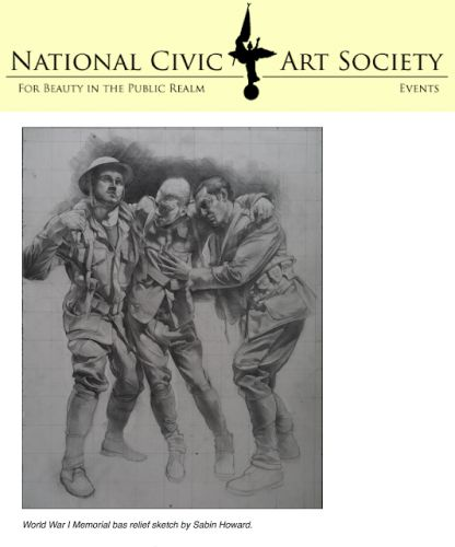 National Civic Art Society Hails Victory for Classical Art in the National WWI Memorial Competition