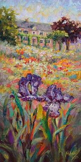 """""""Rooted Together"""" from Monet's Garden by Impressionist Niki Gulley"""