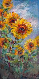 """""""Reaching for the Sun"""" Sunflower Painting by Niki Gulley"""