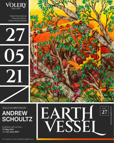 """Earth Vessel"" Solo Exhibition by Andrew Schoultz at Volery Gallery in Dubai, UAE"