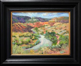 Ghost Ranch Palette Knife Painting by Contemporary Impressionist Niki Gulley