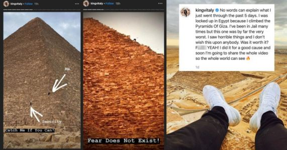 Instagram and YouTube Star Jailed for Climbing The Great Pyramid of Giza