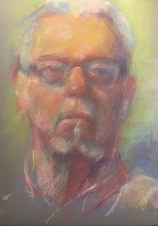 MALE MODEL - pastel sketch on paper by Susan Roden