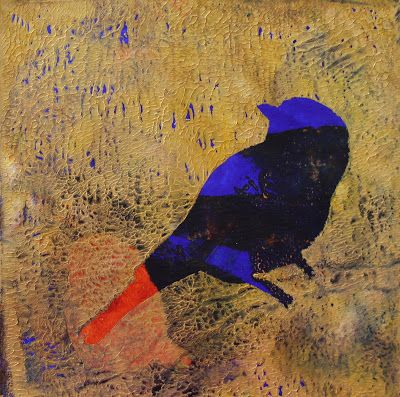"""Abstract Animal Paintings, """"Bird,"""" by Amy Whitehouse"""