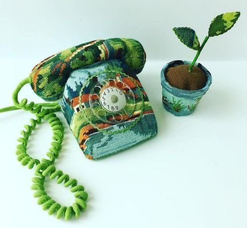 Crossconnectmag: Household Objects Cross-Stitched by Ulla Stina