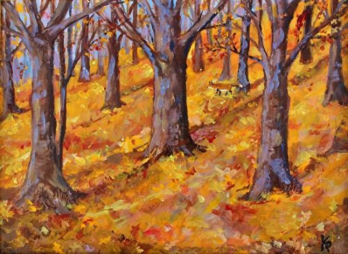 Small Oil Commission - Oak Forest In Fall
