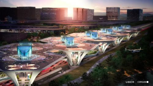"""Could These Uber Flying Taxi """"Skyports"""" Be Coming to a City Near You?"""