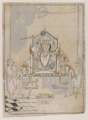 Shrinathji drawings from the Brooklyn Museum of Art