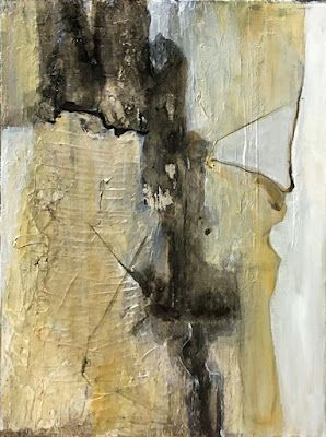 """Contemporary Abstract Mixed Media Painting """"Abstract I"""" by California Artist Cecelia Catherine Rappaport"""
