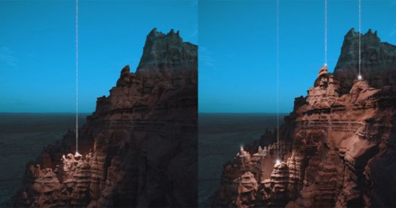 This Landscape Art Uses AR Projection to Show Beams of Light