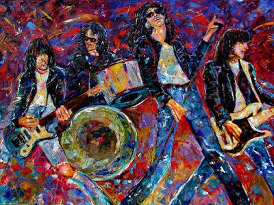 "The Ramones Oil Painting Art Punk Band Paintings ""Gabba Gabba Hey"" by Debra Hurd"