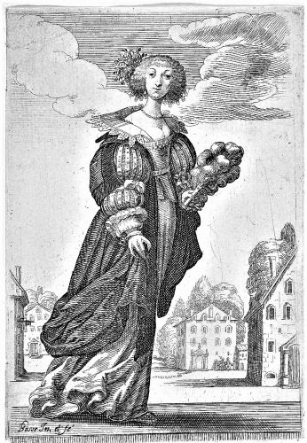 The weather is beginning to warm up. Woman Holding A Fan by Abraham Bosse