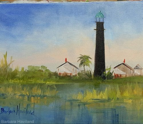 Port Bolivar Lighthouse,Barbara Haviland,nautical,landscape