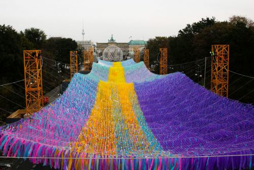 120,000 Ribbons Wave Across the Former Footprint of the Berlin Wall in an Installation Marking 30 Years Since the Peaceful Revolution