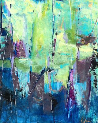 "Contemporary Abstract Expressionist Fine Art Painting, ""SEE THE FOREST FOR THE TREES"