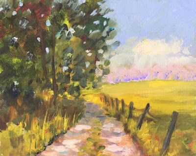 """""""Country Road,"""" Countryside Path Oil Painting by Amy Whitehouse"""