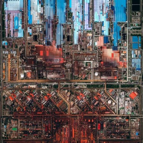 Industrial Landscapes: Large-Scale Factories Seen from Above