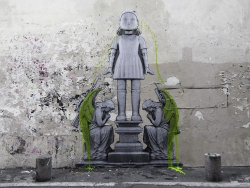 """""""Giant Doll"""" and """"Nature Morte"""" by Ludo in Paris, France"""