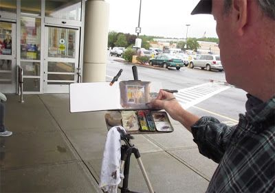Painting a Supermarket Entrance