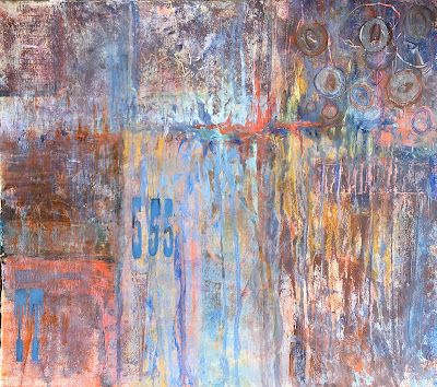 """Abstract Painting, Contemporary Art, """"HIGH FIVE"""" by Virginia Contemporary Artist Lou Jordan"""