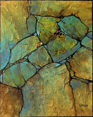 "Geologic Abstract Painting, ""Geologic Abstract Demo"" © Carol Nelson Fine Art"