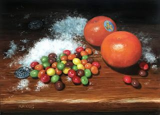 Mandarines and Skittles - SOLD