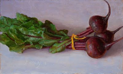 Beets beet root painting still life oil painting original contemporary realism