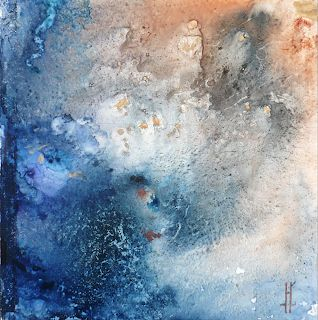 """Original Watercolor Abstract Expressionism Painting """"Warp"""" by New Orleans Artist Lou Jordan"""