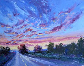 Light and Color, Contemporary Landscape Painting by Sheri Jones