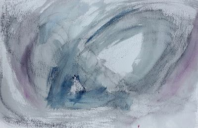 """Mixed Media Painting, Contemporary Art, """"Eye of the Storm"""