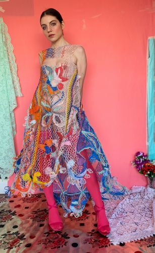 Waste Electrical Wires Are Woven into Delicate, Lace Garments by Designer Alexandra Sipa