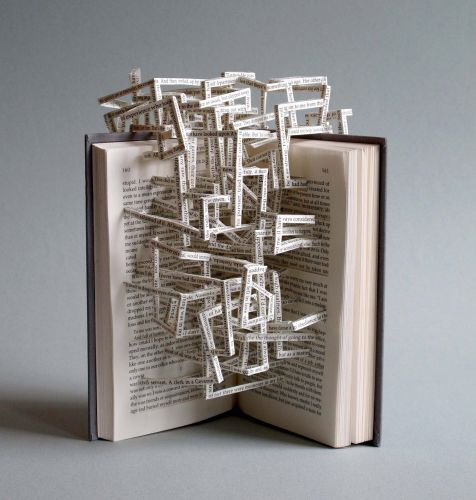 Interlocking Lines of Text Spring from Stephen Doyle's Poetic Book Sculptures