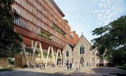 Brisbane Office Block to Hover Above Historic St. Patrick's Church