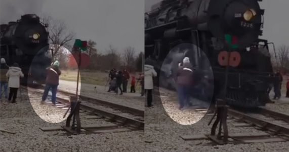Photographer Nearly Killed by Passing Train that Got so Close it Tore Her Coat