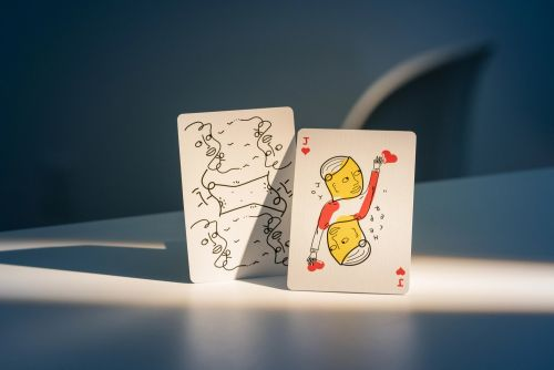 Shantell Martin Designs Two Decks of Playing Cards with Her Signature Black-and-White Doodles