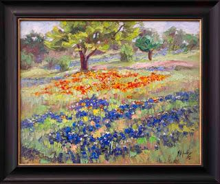 """Over the Hills III"" Bluebonnet Painting by Texas Artist Niki Gulley"