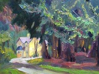 """""""Grandmother's House"""" Oil Painting by Contemporary Impressionist Niki Gulley"""