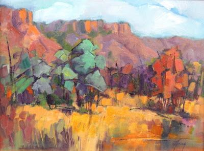 "Contemporary Impressionist Landscape Painting,Colorado Landscape, Fine Art Oil Painting,""Sunny Sunday"" by Colorado Contemporary Fine Artist Jody Ahrens"