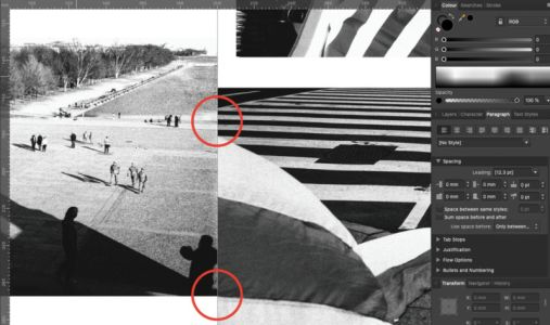 Composing Photographs Across a Double Page Spread