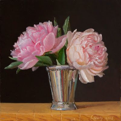 Peony flower original oil painting